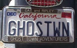 GHOSTWN licence plate